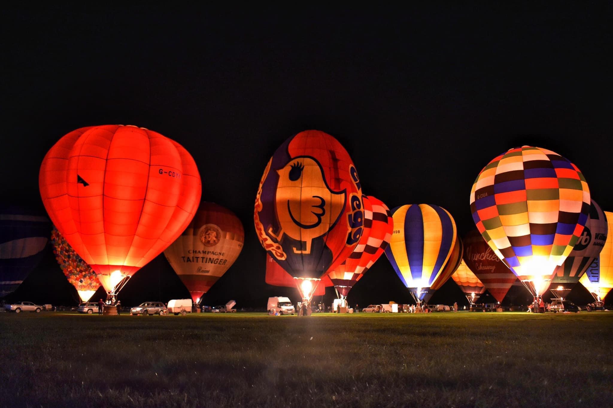 Hot air Balloons at the York Balloon fiesta - the bar will be York Gin