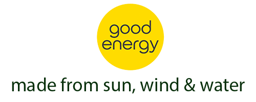 All our power is provided by Good Energy. 100% renewable energy.