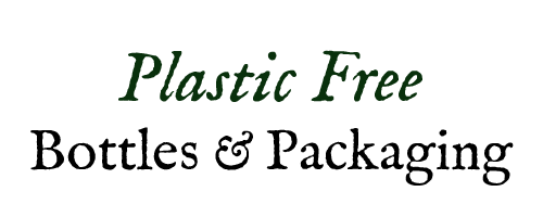 Plastic Free bottles and packaging