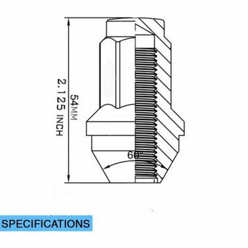 32 Pieces Stock Factory OEM Style Lug Nuts - Install Kit (Black) - Ford (13/16 Hex) M14x2.0 (8 Lug Kit)