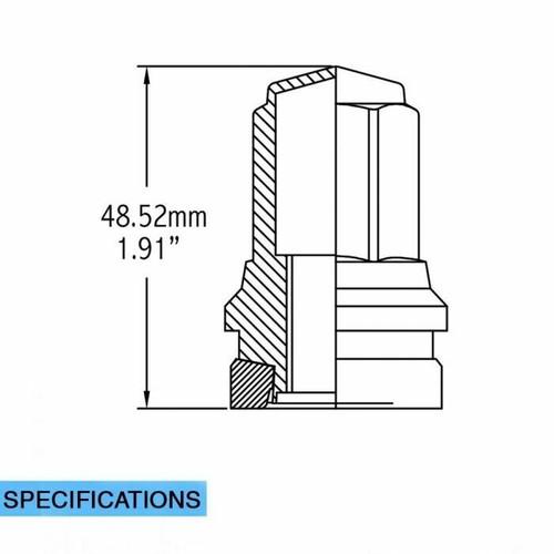 Stock OEM Factory Style - Lug Nut - Ford (13/16) M14x1.5 [Chrome]