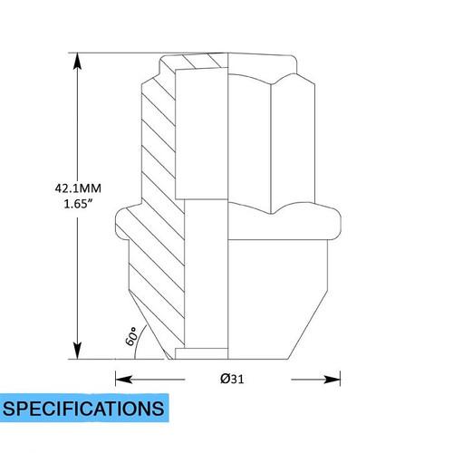 Stock OEM Factory Style Lug Nuts - Install Kit - Ford (13/16 Hex) M14x1.50 (6 Lug Kit)