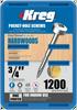 "Kreg Zinc Pocket-Hole Screws 3/4"", #6 Fine, Pan-Head, 1200 Count (SPS-F075-1200)"