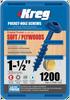 "Kreg Blue-Kote WR Pocket Screws 1-1/2"", #8 Coarse, Washer Head 1200 Count (SML-C150B-1200)"