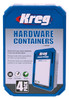 Kreg Large Hardware Containers - Set of 4 (KSS-L)