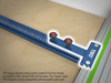 Quick Guide Rail Adapter for TPG Parallel Guide System on a T-track graphic