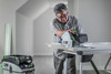 Worker using Festool Cordless Track Saw TSC 55 KEBI-F-Set-FS
