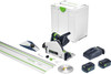 Festool Cordless Track Saw TSC 55 KEBI-F-Set-FS with accessories