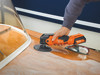 Fein CORDLESS MULTIMASTER AMM 300 PLUS START buffing the top of a boat