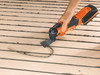 Fein Cordless MultiMaster AMM 500 Plus Top cutting curved edge in wood