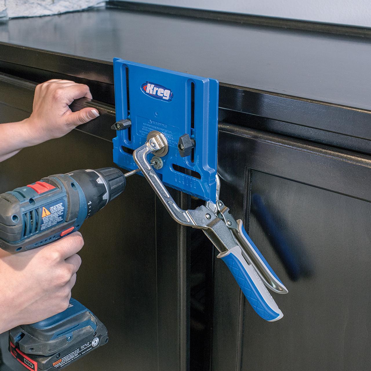 Kreg Drawer Slide Jig with Cabinet Hardware Jig and Concealed Hinge Jig