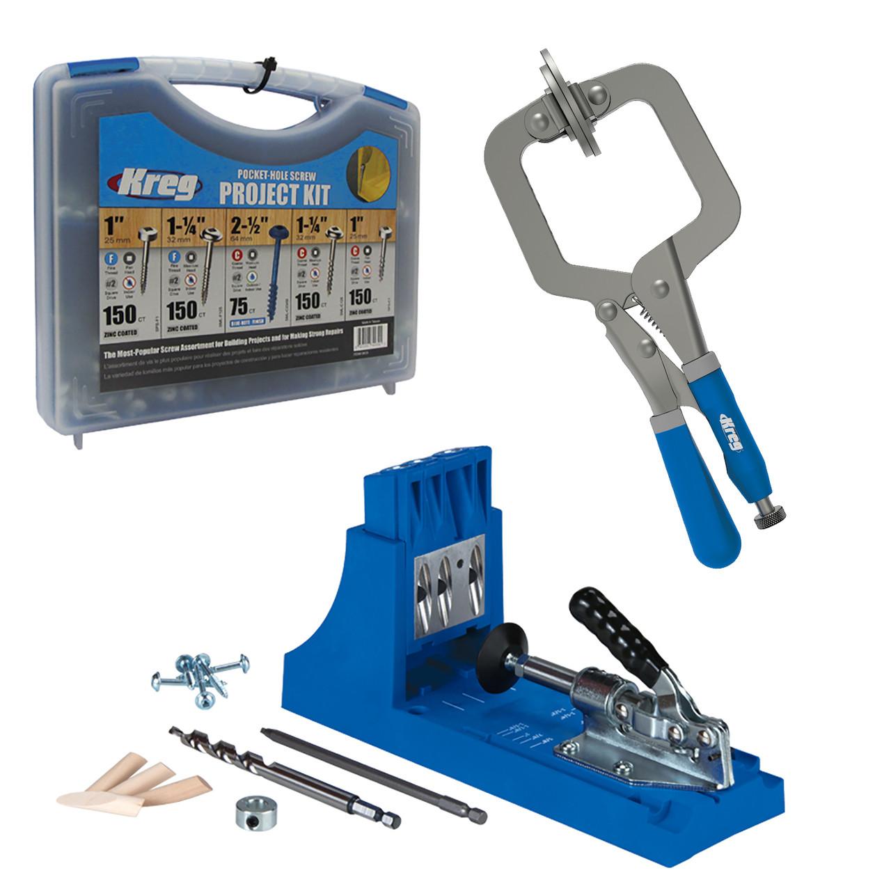 Kreg Jig K4 + Screws & Clamps Bundle