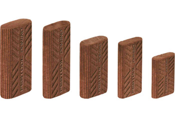 Festool Domino Tenon, Sipo Mahogany For Outdoor Use, 6 x 20 x 40mm, 190-Pack (494870)