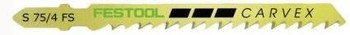 Festool Carvex Jigsaw Blade | S75/4FSG, 3 Inch, 6 TPI , 5-pack (499476)