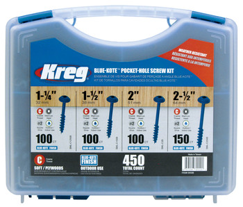 Kreg Blue-Kote Pocket-Hole Screw Kit (SK03B)