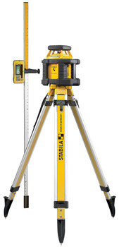 Stabila LAR200 Exterior Self-Leveling Laser System w/Tripod and Grade Rod (05500)