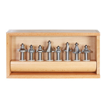 Amana Router Bits 8-pc Corner Round & Beading 1/2 Inch Shank Router Bit Collection (AMS-555)