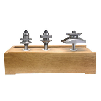 Amana 3-Piece Carbide Tipped Ogee Stile & Rail with Back Cutter 1/2 Inch Shank Doormaking Set (AMS-403)