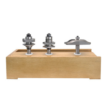 Amana 3-Piece Carbide Tipped Ogee Raised Panel 3-3/8 Dia x 1/2 Inch Shank Doormaking Set (AMS-301)
