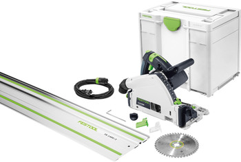 Festool TS 55 REQ Plunge Cut Circular Saw w/ Guide Rail (576012)