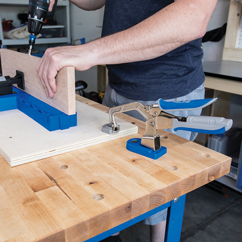 Kreg Bench Clamp with Bench Clamp Base - workshop example
