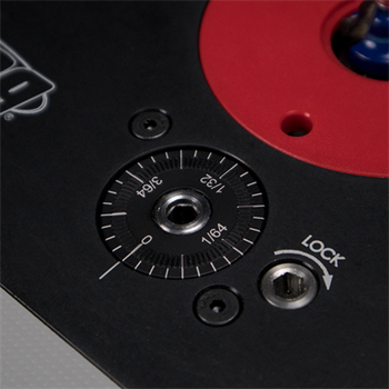 Kreg Precision Router Lift - close up on dial