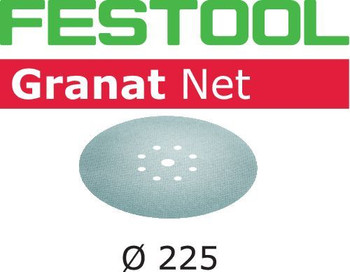 Festool Granat Net | D225 Round | 220 Grit - with logo