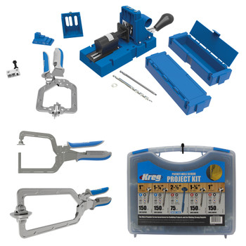 Kreg Jig K5 Master System + Screws & Clamps Bundle