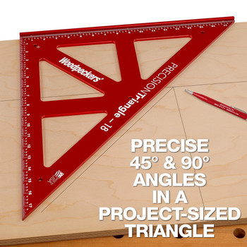 """Woodpeckers One-Time Precision Triangle Set 12"""" & 18"""" w/ Case (PCT1218WC-19)"""