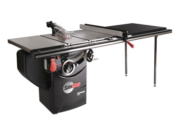 "Professional Cabinet Saw 3HP, 1ph, 230v, w/ 52"" Professional T-Glide fence system"