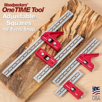 Woodpecker One-Time Tool Combination Square XL and Double Square XL Set in MDF