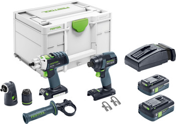Festool 576490 Screw & drill Set TID 18 h PC I-Set PDC 18