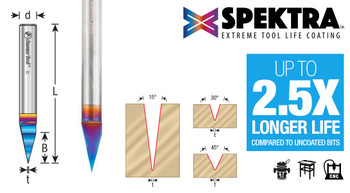Amana Spektra Solid Carbide 30 Degree Engraving Bit (45771-K)