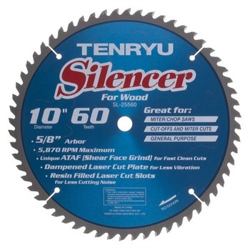 "Tenryu Blade - 10"" 60 Tooth 5/8"" Arbor 5870 RPM (SL-25560)"