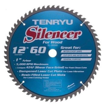 "Tenryu Blade - 12"" 60 Tooth 1"" Arbor 5000 RPM (SL-30560)"