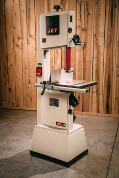 """Jet JWBS-14SFX, 14"""" Bandsaw, 1-3/4HP, 115/230V on a work site"""