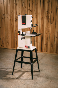 """Jet JWB-10, 10"""" Open Stand Bandsaw on a work site"""