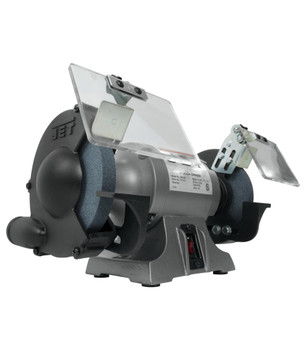 """Jet JBG-6B 6"""" Shop Bench Grinder from the left and below"""