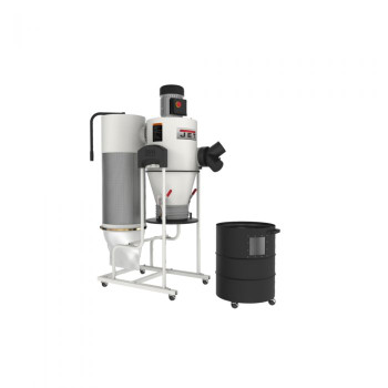 Jet JCDC-1.5 CYCLONE DUST COLLECTOR, 1.5HP, 115V with accessories