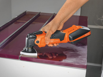 Fein Cordless MultiMaster AMM 500 Plus Top cleaning epoxy