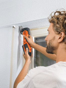 Fein cordless multimaster AMM 700 max top cutting around a door