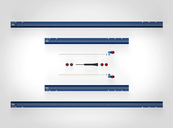 TSO Guide Rail Square Combination Set (61-233 A) With TSO TPG-50 Parallel Guide System Set (61-383)