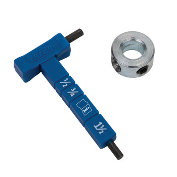 Kreg® Easy-Set Stop Collar & Material Thickness Gauge/Hex Wrench Kit (KPHA330)