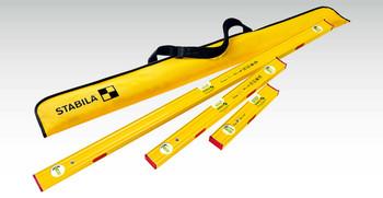 Stabila Magnetic PRO SET 80 ASM spirit levels, 48″ (120 cm) / 24″ (60 cm) / 12″ (30 cm) with carrying case (29940)