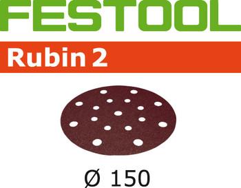 Festool Rubin 2 | 150 Round | 80 Grit | Pack of 10 (499111)