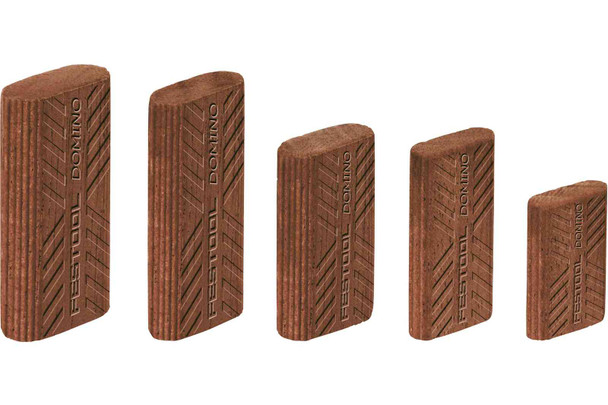 Festool Domino Tenon, Sipo Mahogany For Outdoor Use, 10 X 24 X 50mm, 85-Pack (494873)