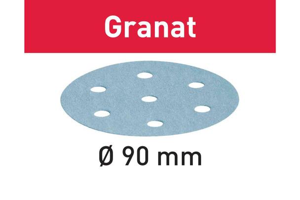 Festool Granat   90 Round   120 Grit   Pack of 100 (497367)
