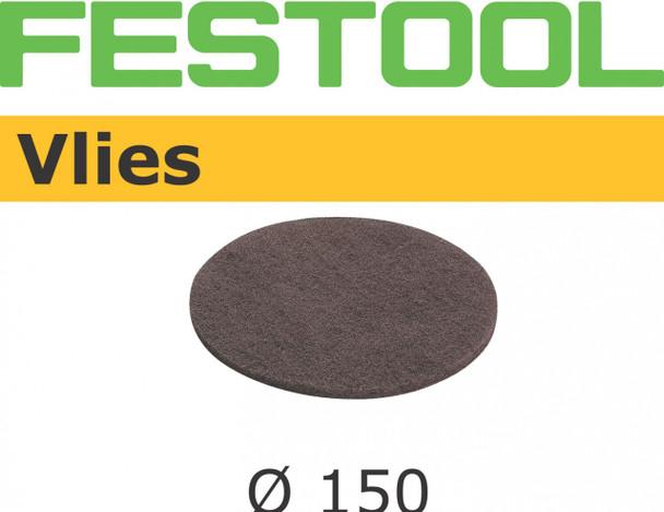 Festool Vlies   150 Round   100 Grit   Pack of 5 (482778)