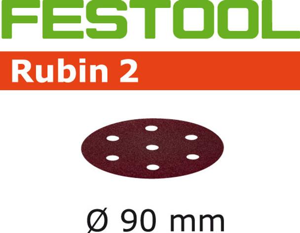 Festool Rubin 2   90 Round   120 Grit   Pack of 50 (499081)
