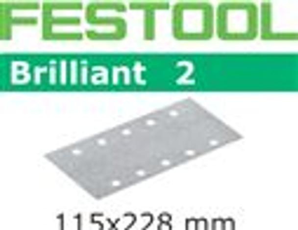 Festool Brilliant 2   115 x 228   40 Grit   Pack of 10 (492818)